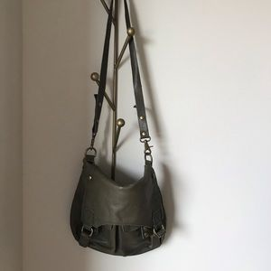Marc New York by Andrew Marc green messenger bag
